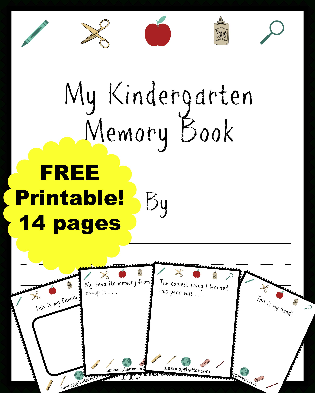 Free Kindergarten Memory Book (Homeschool Edition | Best Of Mrs - Free Printable Books For Kindergarten