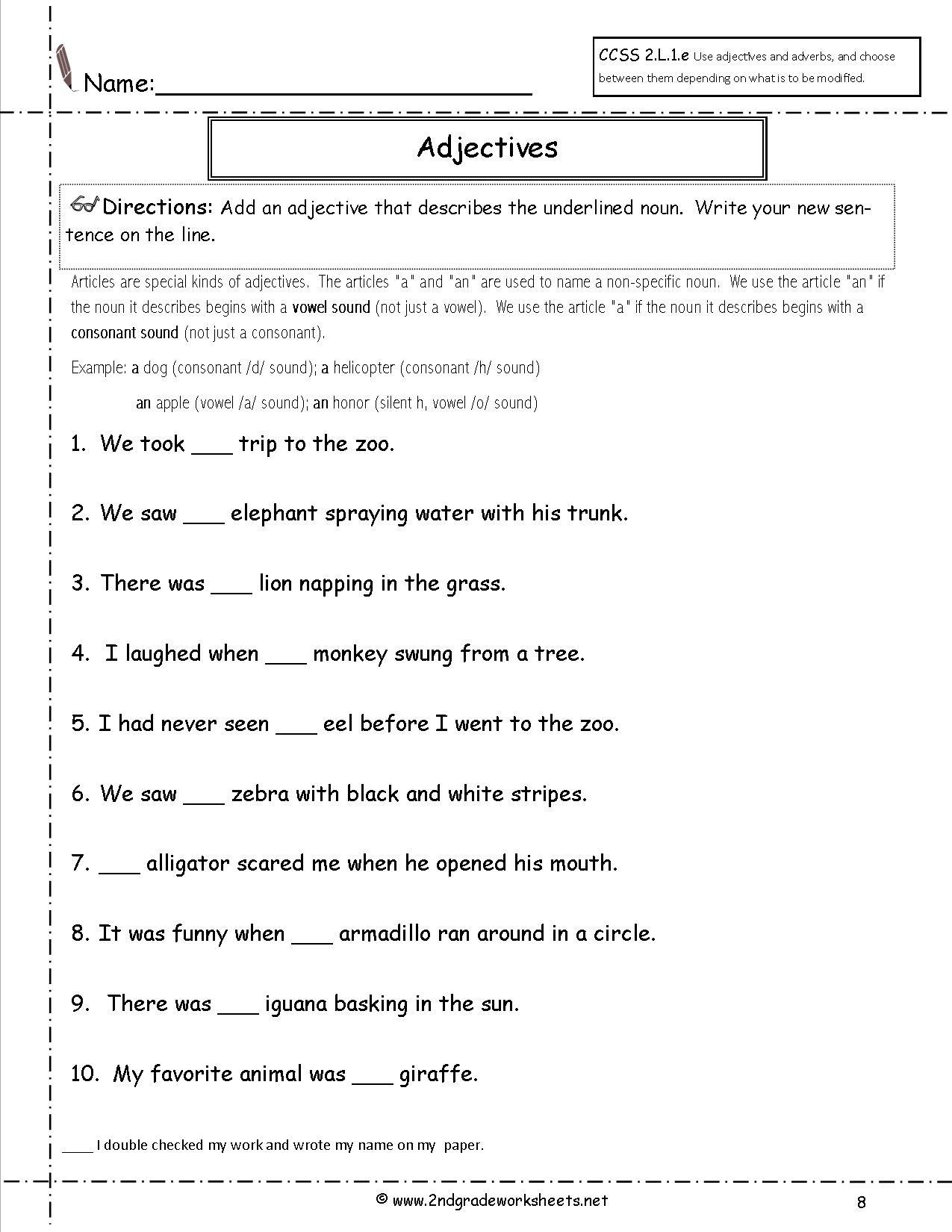 Free Language/grammar Worksheets And Printouts - Free Printable Grammar Worksheets