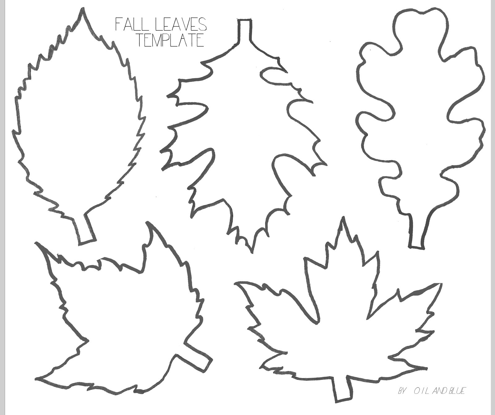Free Leaf Template, Download Free Clip Art, Free Clip Art On Clipart - Free Printable Leaf Template