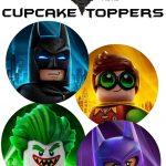 Free Lego Batman Cupcake Toppers   Daniel Bday Theme Ideas   Lego   Free Printable Lego Batman