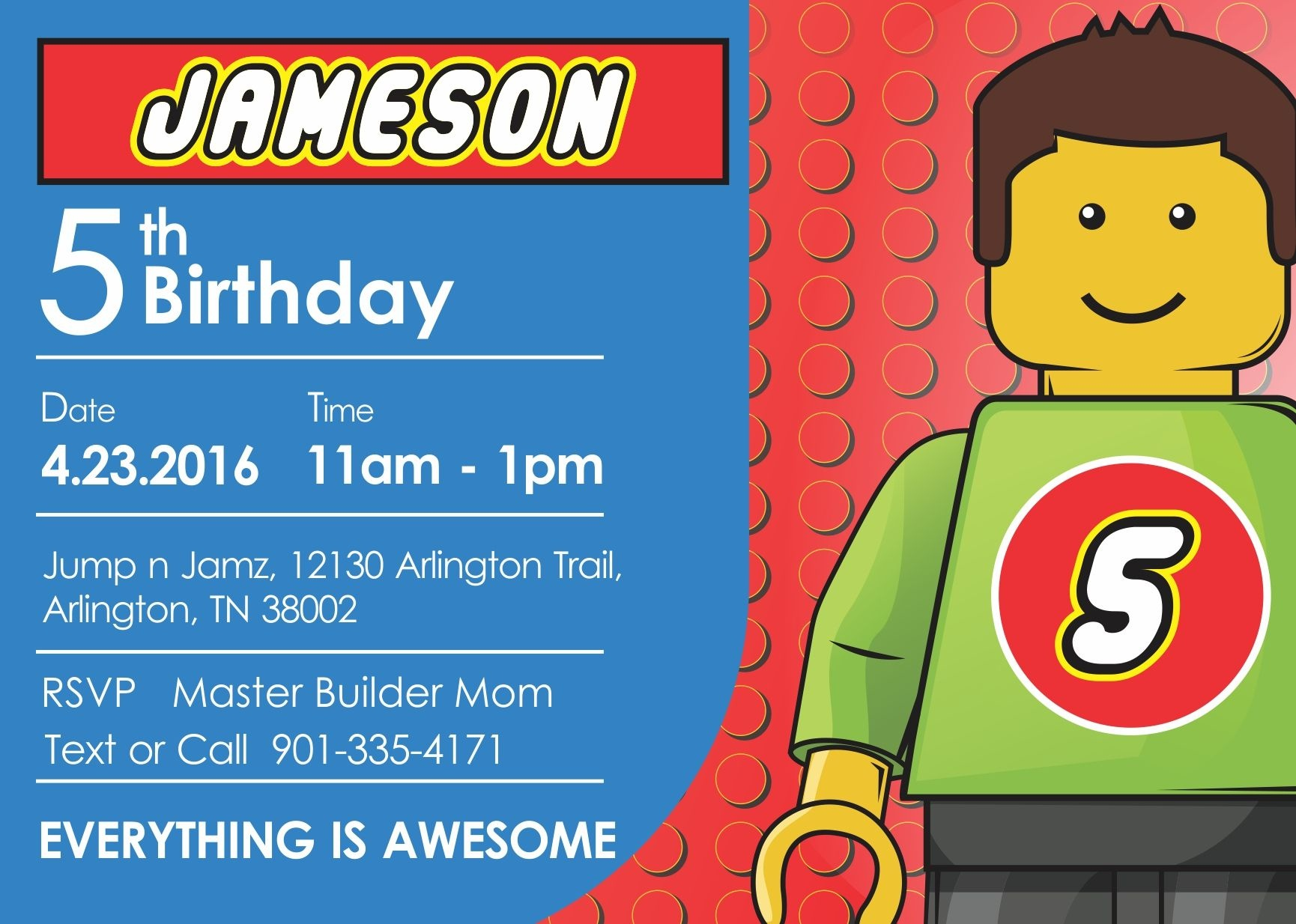 Free Lego Birthday Invitations For Donny | Invitation Ideas Template - Lego Party Invitations Printable Free