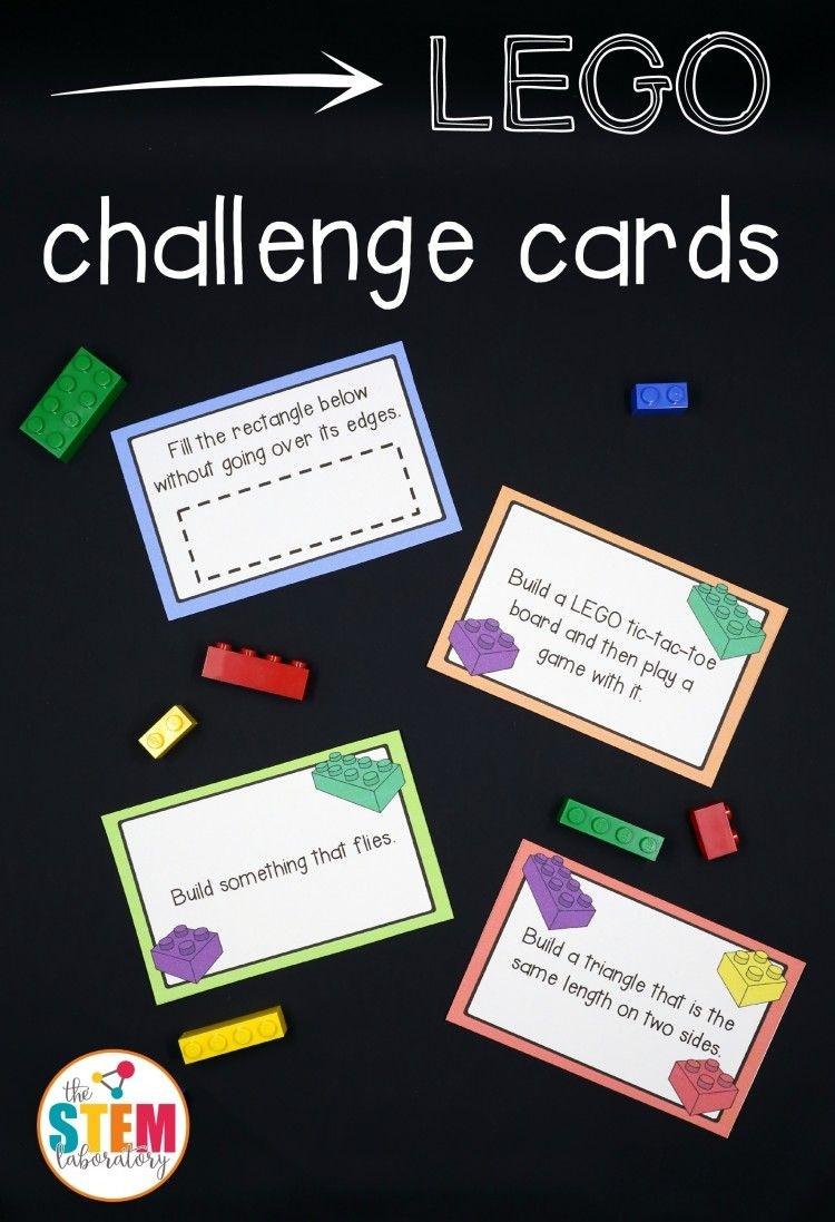 Free Lego Challenge Printable Stem Activities   Fun Ideas For Kids - Free Printable Kindergarten Task Cards