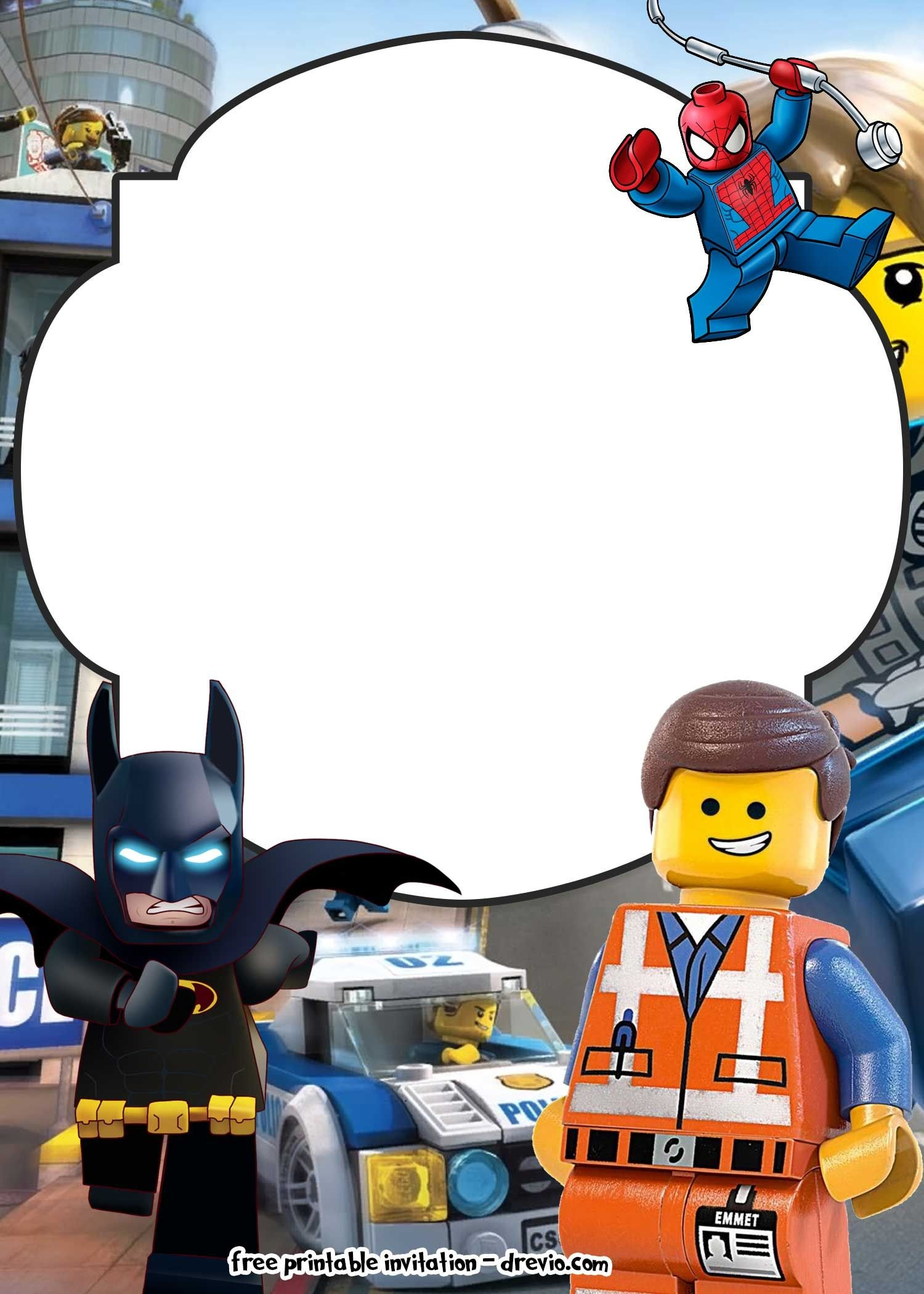 Free Lego Movie Invitations For | Free Printable Birthday - Lego Batman Party Invitations Free Printable