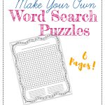 "Free ""make Your Own"" Printable Wordsearch Puzzles – The Frugal   Free Printable Make Your Own Word Search"