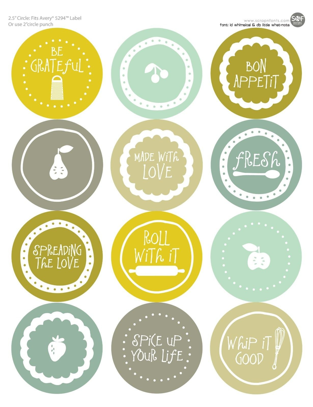Free Mason Jar Labels To Print | All Wrapped Up | Jar Labels, Mason - Free Printable Labels For Jars