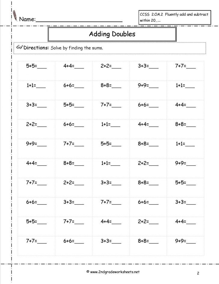 Free Printable Second Grade Worksheets