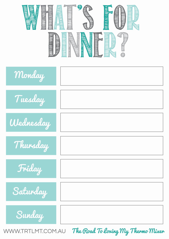 Free Meal Planning Printables | Budget | Planificación De Comidas - Free Printable Menu