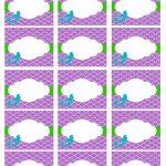 Free Mermaid Party Printables |   Free Printable Mermaid Thank You Cards