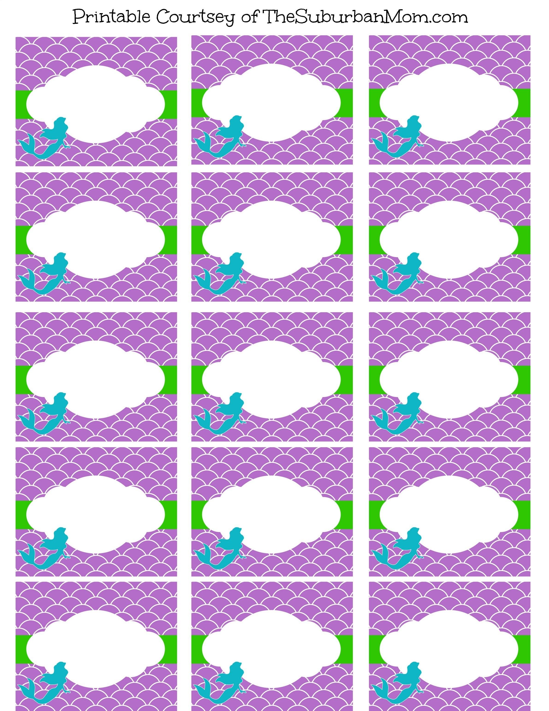Free Mermaid Party Printables   - Free Printable Mermaid Thank You Cards