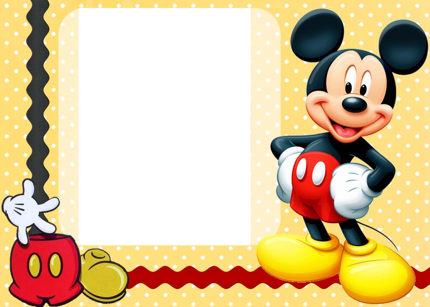 Free Mickey Mouse Template, Download Free Clip Art, Free Clip Art On - Free Printable Mickey Mouse Birthday Invitations