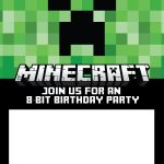 Free Minecraft Invitations For Print Or Evite! | Minecraft   Free Printable Minecraft Invitations