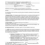 Free Missouri Employment Contract Agreement   Pdf | Word | Eforms   Free Printable Employment Contracts