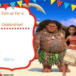 Free Moana Birthday Invitation Template | Zoey 4Th Birthday | Moana   Free Moana Printable Invitations