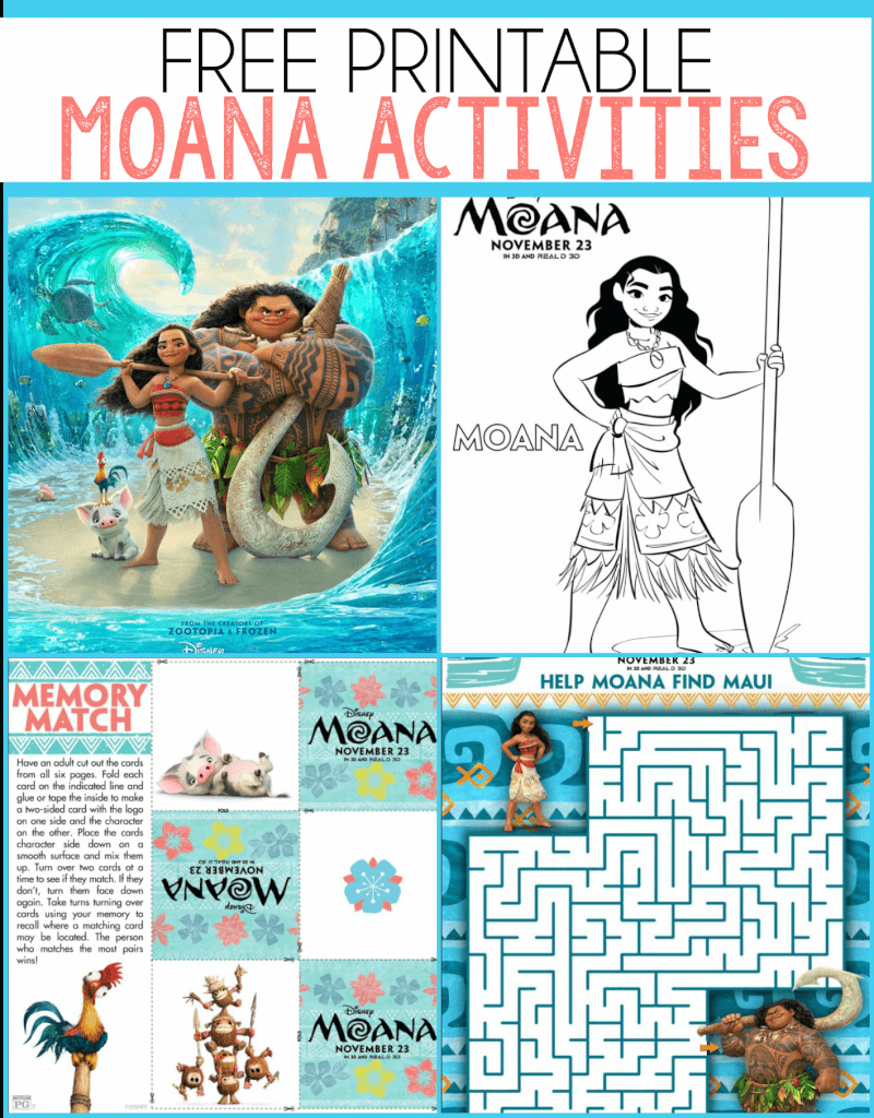 Free Moana Printables - Coloring Pages, Party Printables, And More - Free Printable Moana Banner