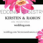Free Modern Printable Watercolor Wedding Registry Card   Freebies   Free Printable Registry Cards