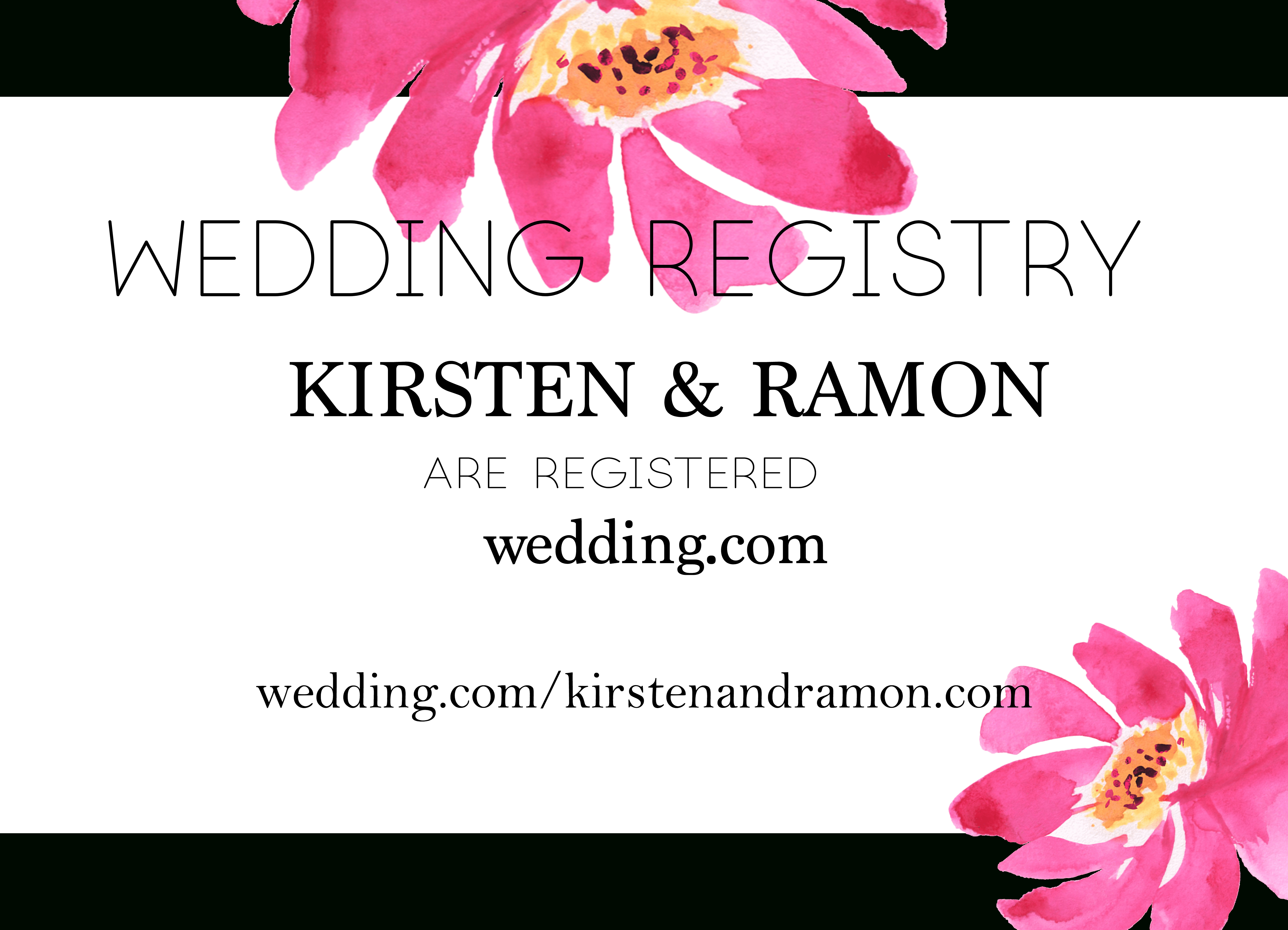 Free Modern Printable Watercolor Wedding Registry Card | Freebies - Free Printable Registry Cards