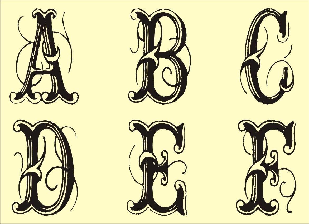 Free Monogram Stencils Printable | Tattoo Art | Alphabet Stencils - Free Printable Fancy Number Stencils