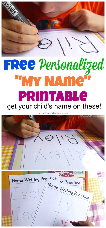 Free Name Tracing Worksheet Printable + Font Choices - Free Printable Practice Name Writing Sheets