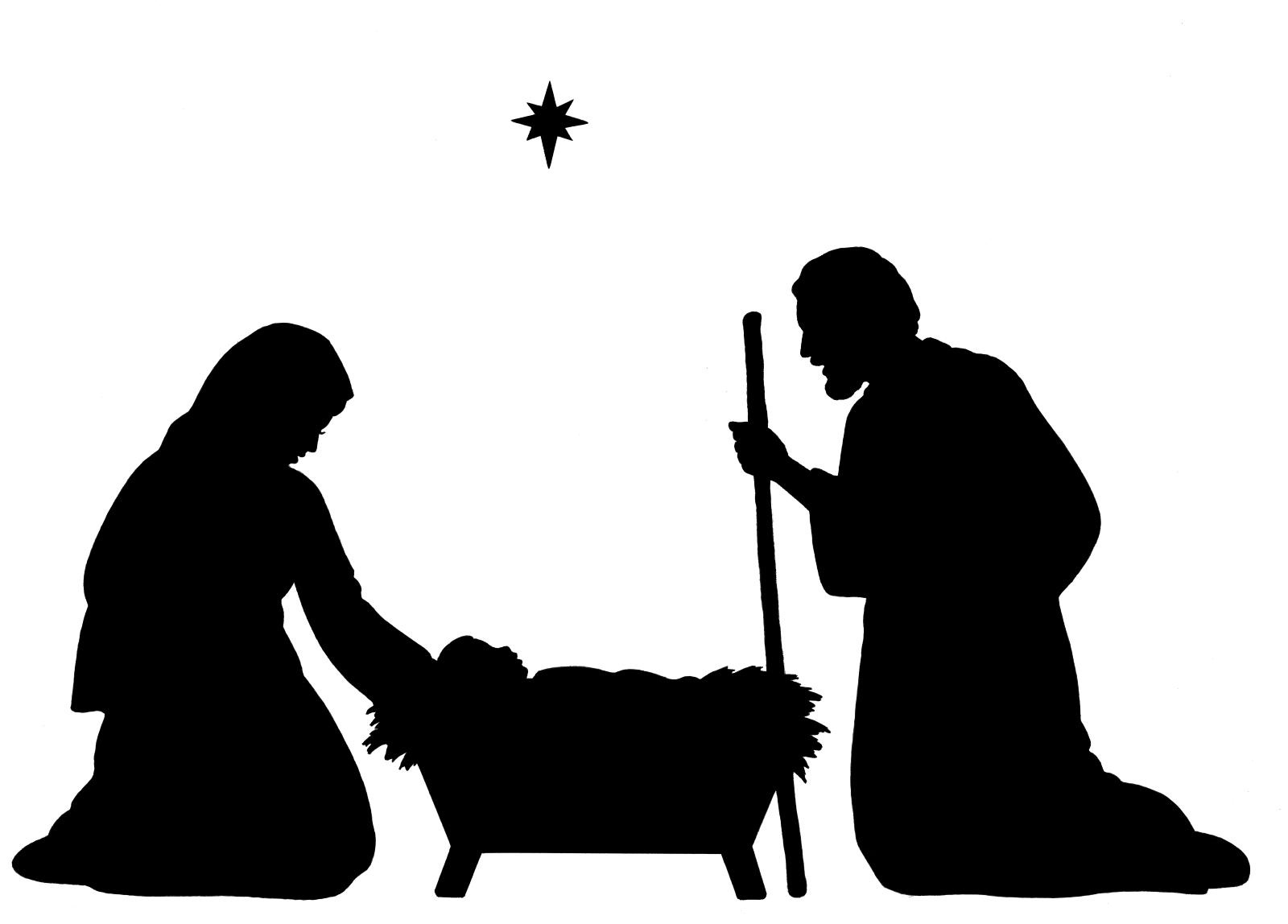 Free Nativity Clipart Silhouette | Free Download Best Free Nativity - Free Printable Nativity Silhouette