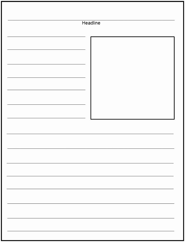 Free Newspaper Article Template | Shooters Journal - Free Printable Newspaper Templates For Students