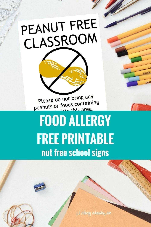 Free Nut Free Classroom And Nut Free School Signs. Free Printable - Printable Nut Free Signs