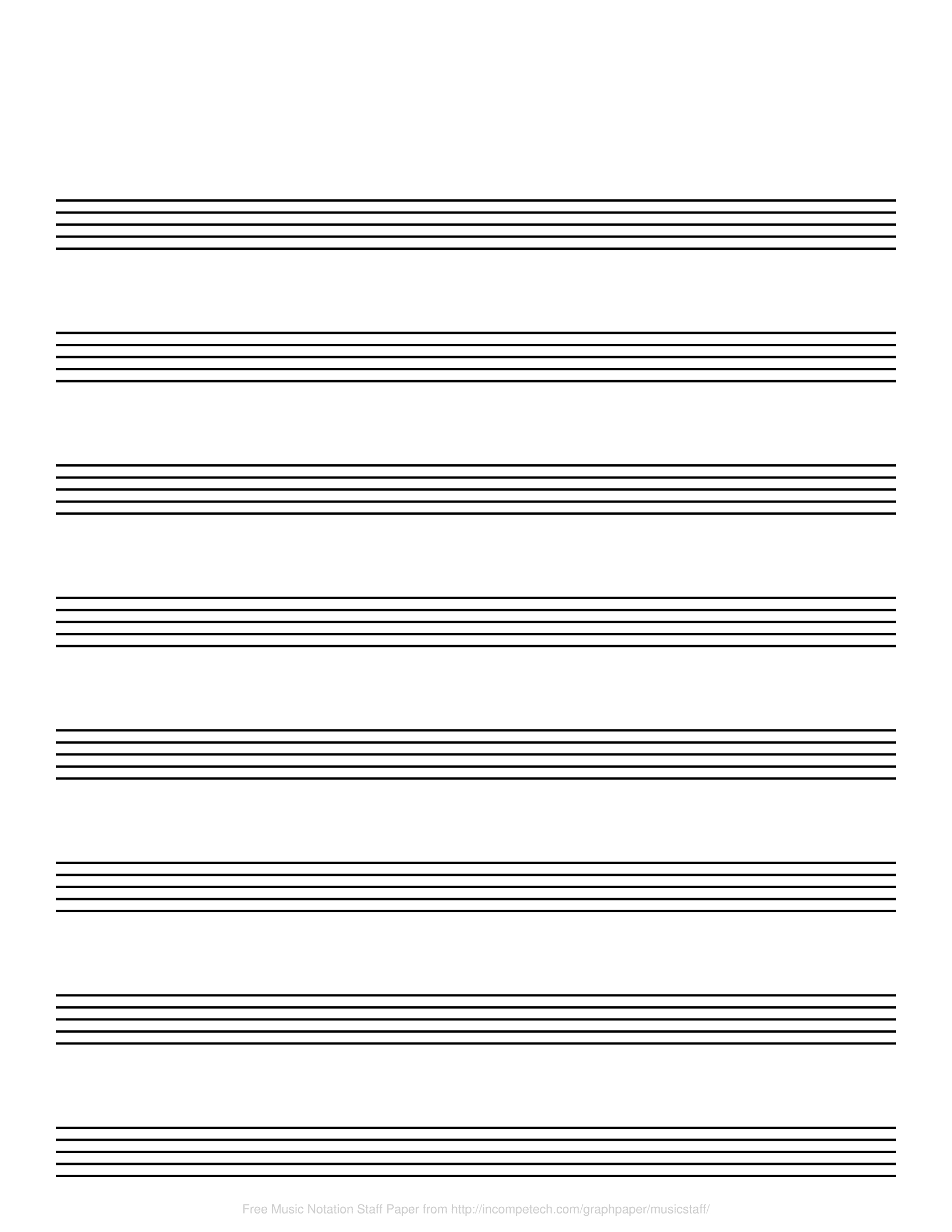 Free Online Graph Paper / Music Notation - Free Printable Blank Music Staff Paper