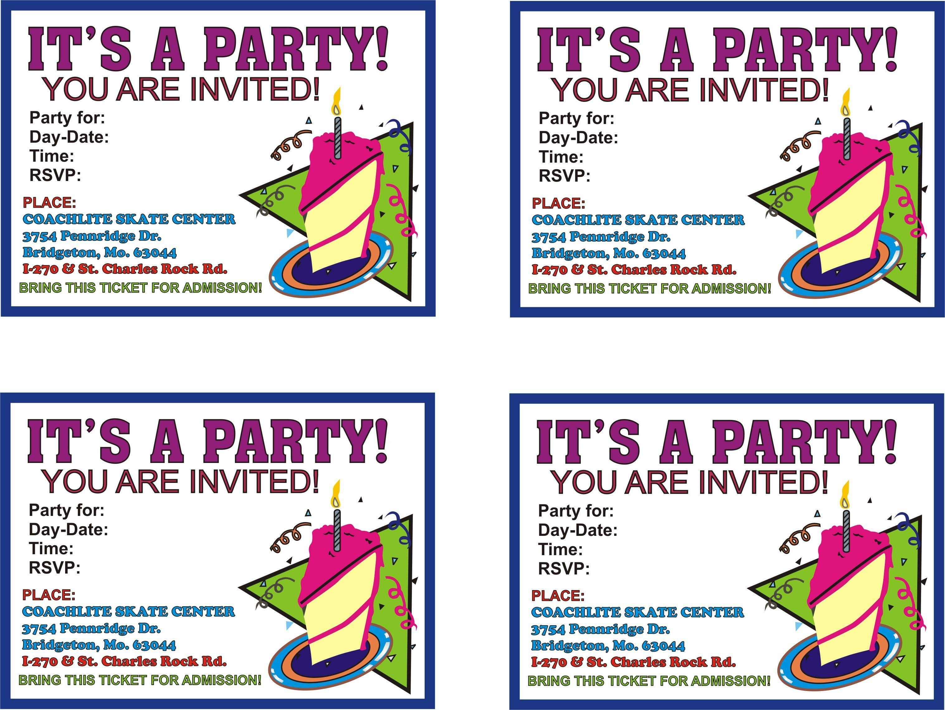 Free Online Printable Birthday Party Invitations | Lazine - Free Online Printable Birthday Cards