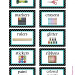 Free Organization Label Printables. We Won't Be Needing That Glitter   Free Printable Classroom Labels With Pictures