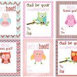 Free Owl Printables | Free Printable Valentine's Day Cards For Kids   Free Printable Owl Valentine Cards