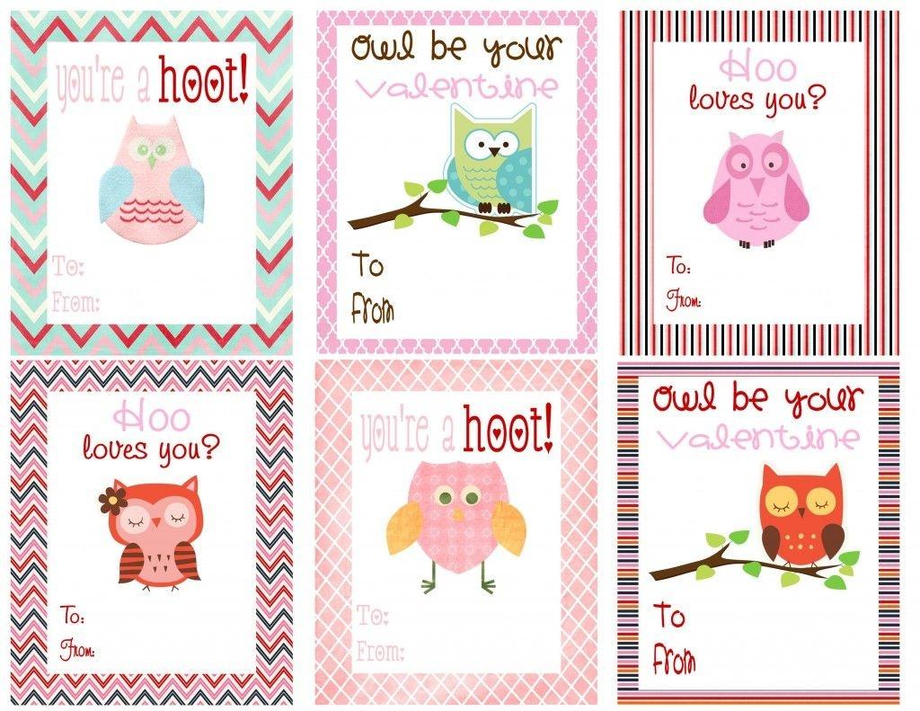Free Owl Printables   Free Printable Valentine's Day Cards For Kids - Free Printable Valentines Day Cards Kids