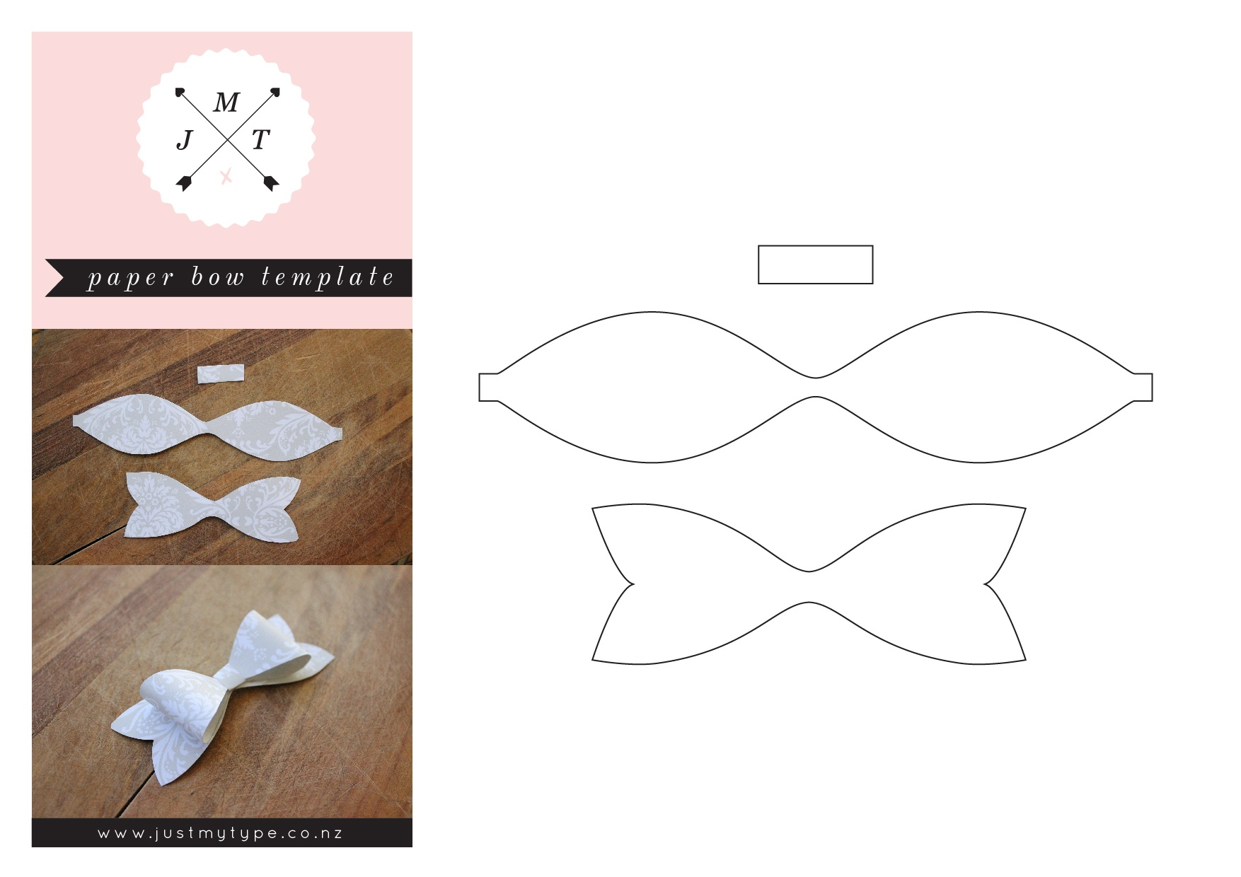 Free Paper Bow Template - Tutlin.psstech.co - Free Bow Tie Template Printable