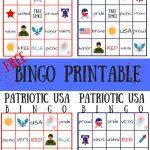 Free Patriotic Usa Bingo Printable   Summer Game | My Pinterventures   Free Printable Summer Games