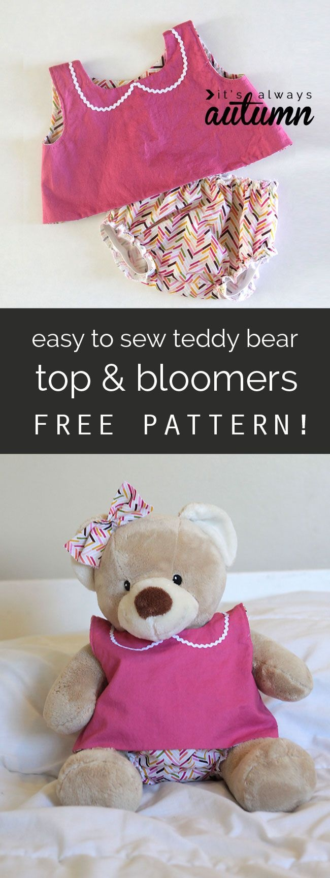 Free Pattern For Easy To Sew Teddy Bear Clothes (Build-A-Bear   Doll - Free Printable Teddy Bear Clothes Patterns