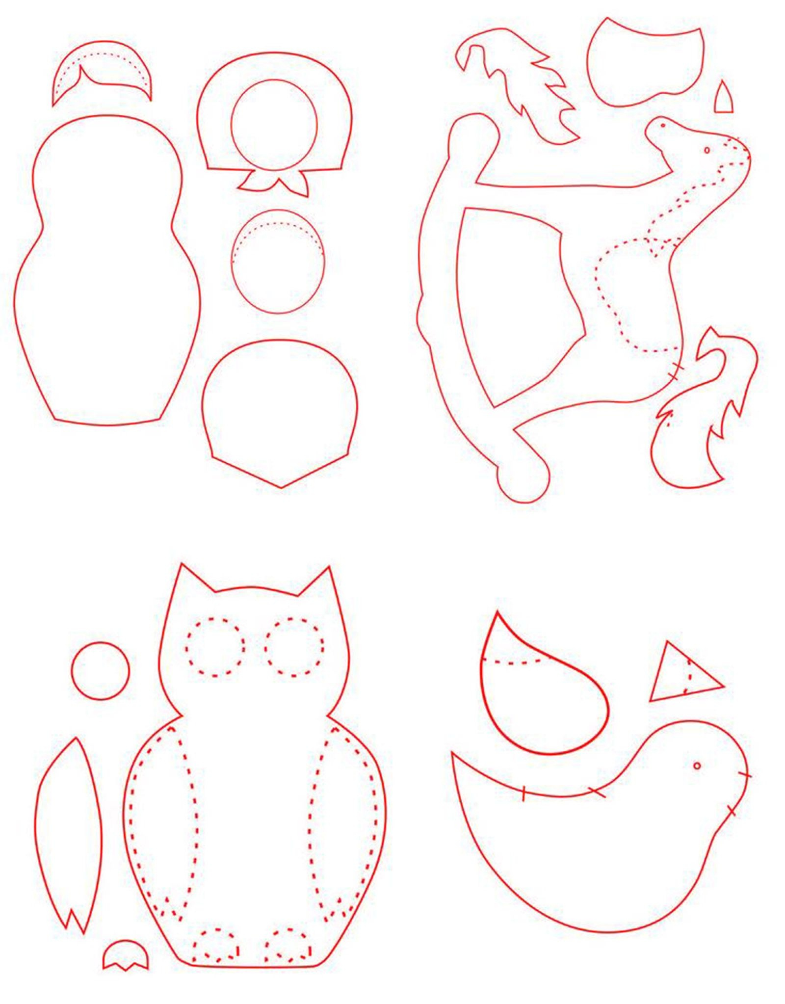 Free Patterns For Felt Ornaments | Vintage Christmas Craft Projects - Free Printable Felt Christmas Ornament Patterns