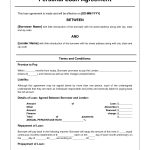 Free Personal Loan Agreement Form Template   $1000 Approved In 2   Free Printable Promissory Note For Personal Loan