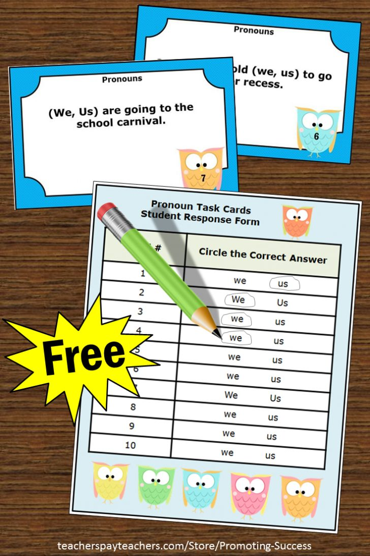 Free Printable Kindergarten Task Cards