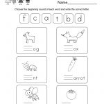 Free Phonics Worksheet   Free Kindergarten English Worksheet For Kids   Phonics Pictures Printable Free