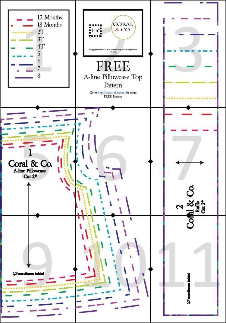 Free Pillowcase Dress Top Pattern With Pdf Download | Free Sewing - Free Printable Pillowcase Dress Pattern