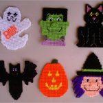 Free Plastic Canvas Magnet Patterns | Plastic Canvas Halloween   Printable Plastic Canvas Patterns Free Online
