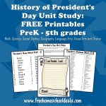Free Presidents Day Unit Study With Free Printables And Worksheets   Free Printable President Worksheets