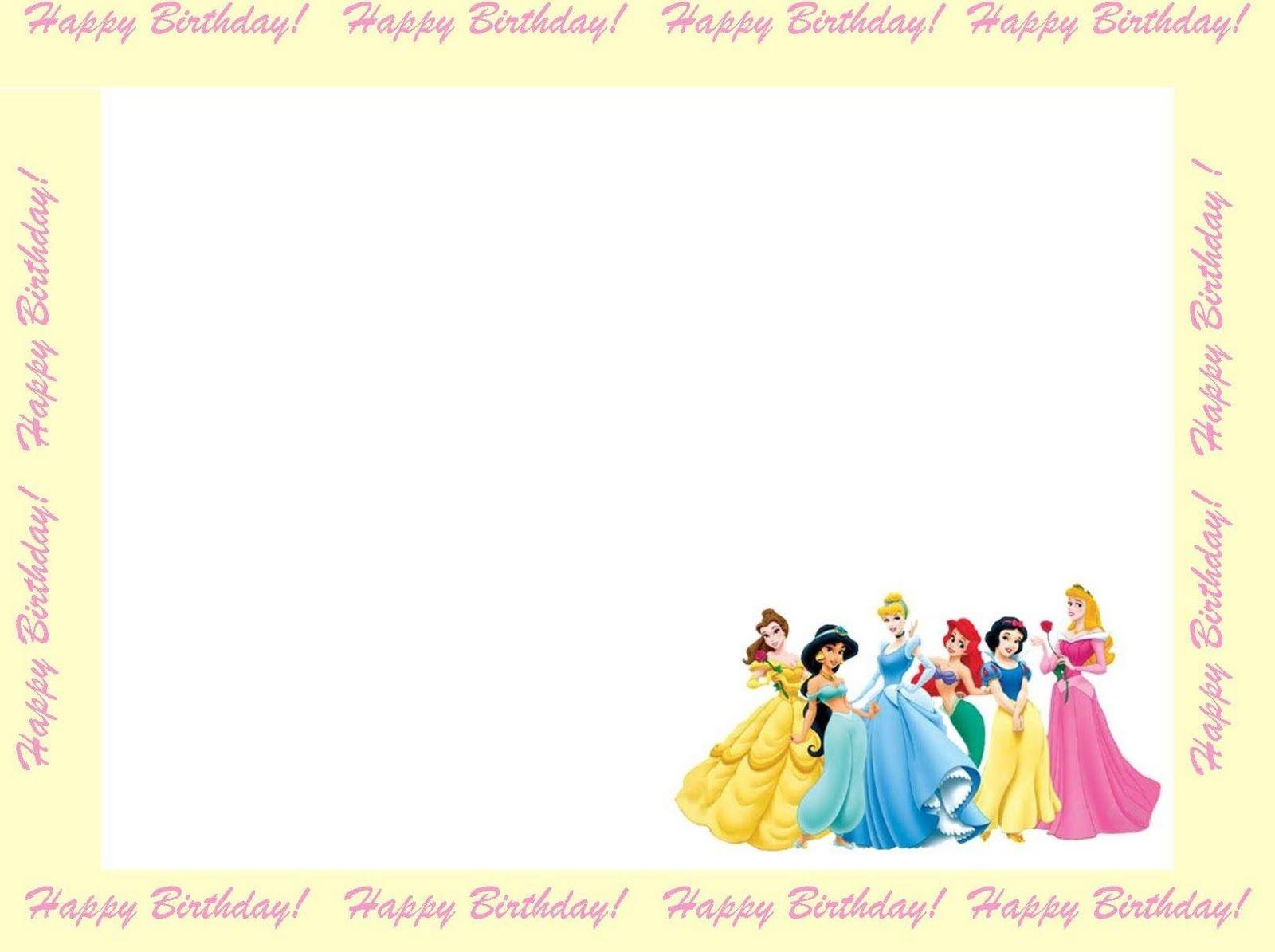 Free Princess Invitations To Print | Free Printable Disney Princess - Disney Princess Free Printable Invitations