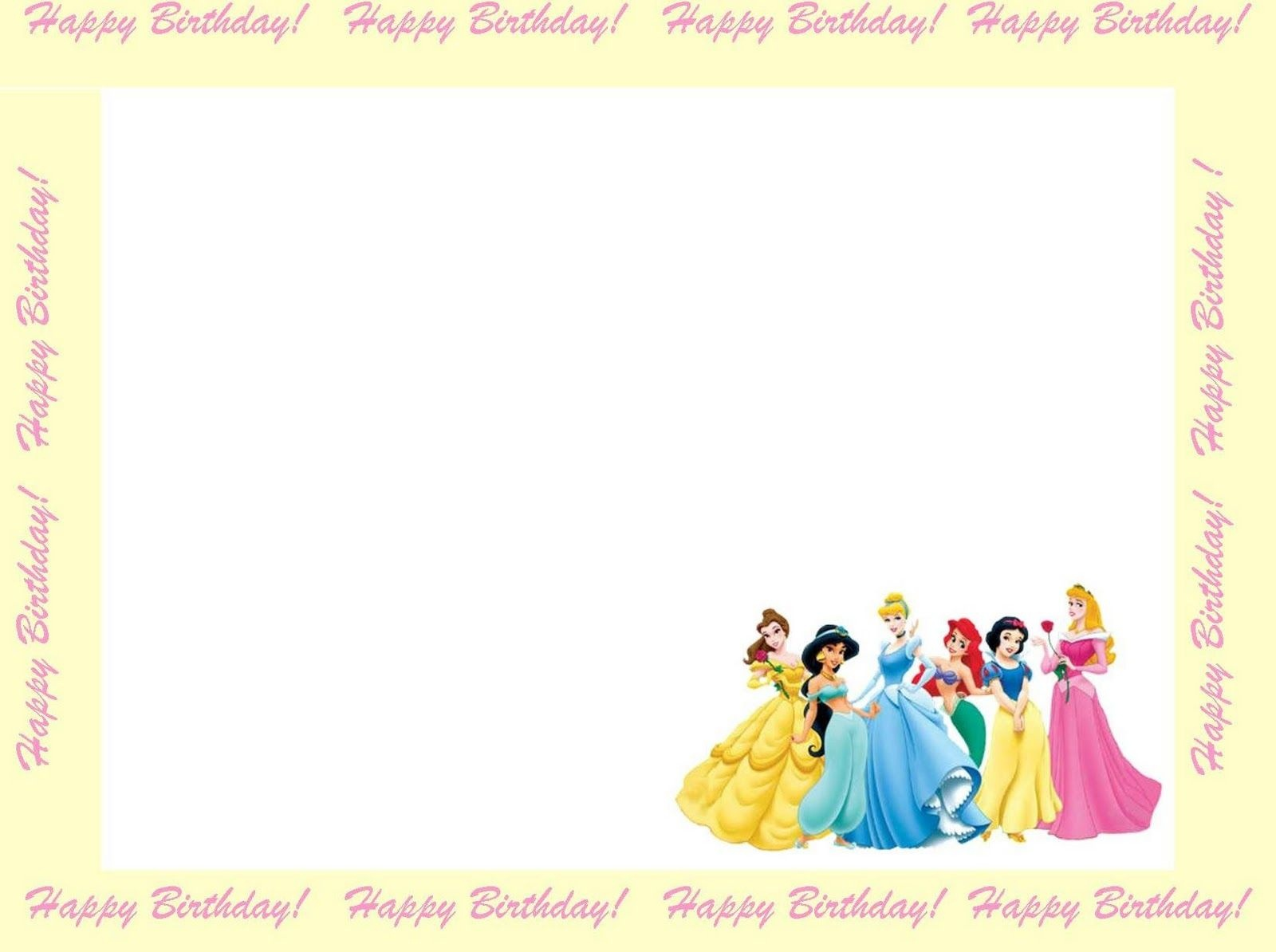 Free Princess Invitations To Print | Free Printable Disney Princess - Free Princess Printable Invitations