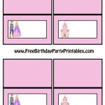 Free Princess Prince Castle Birthday Party Tent Food Cards   Free Printable Food Tent Cards