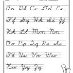 Free Print Alphabet Letter Worksheets    – Free Abc's Printable   Free Printable Cursive Handwriting Worksheets