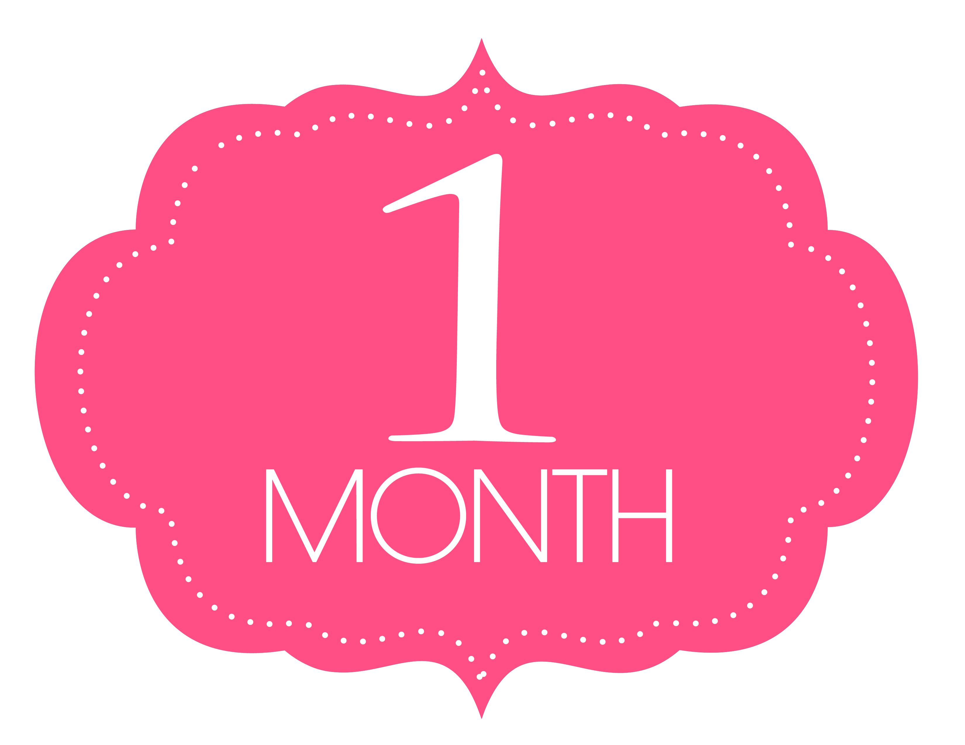 Free Printable 1 Month Old Sign | Baby - Photosmonth | Baby - Free Printable Baby Month Stickers