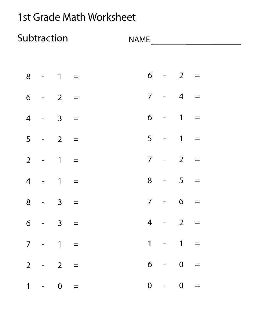 Free Printable 1St Grade Math Worksheets For Kids | Math Worksheets - Free Printable First Grade Math Worksheets