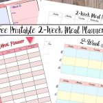 Free Printable 2 Week Meal Planners: 4 Designs   Free Printable Sud
