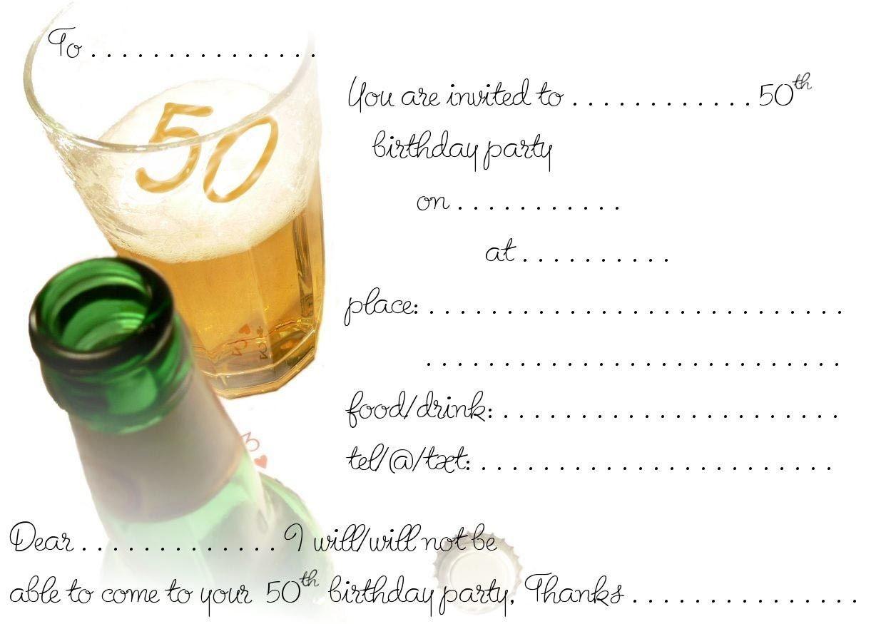 Free Printable 50Th Birthday | Free Printable Birthday Invitation - Free Printable Surprise 40Th Birthday Party Invitations