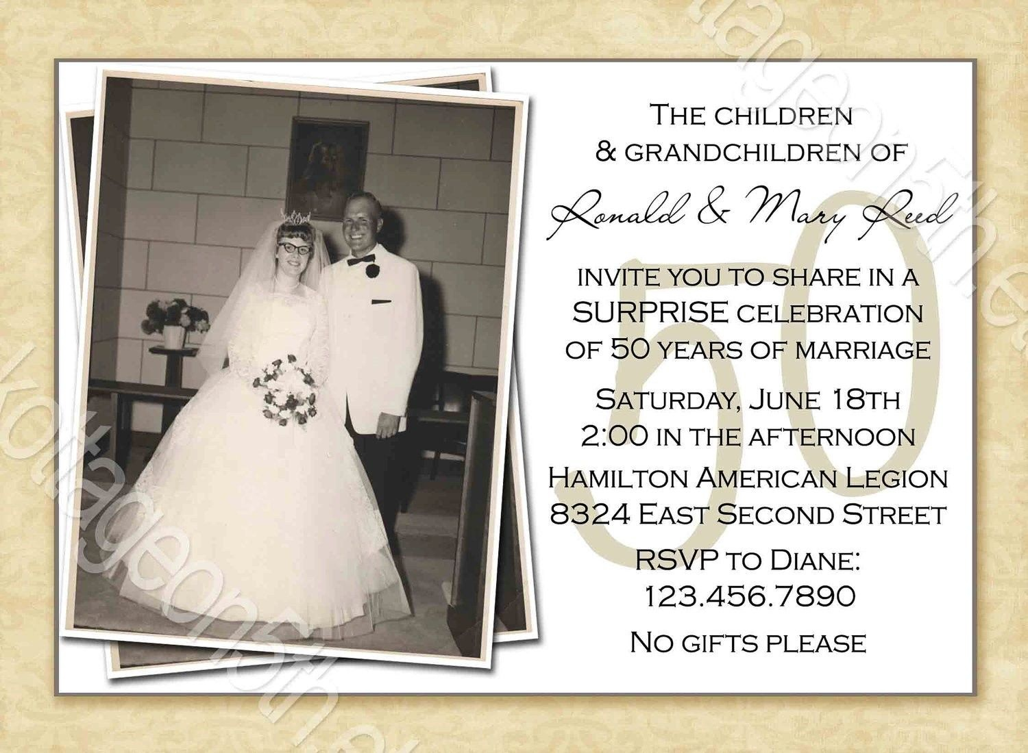 Free Printable 50Th Wedding Anniversary Invitation Templates - Free Printable 60Th Wedding Anniversary Invitations