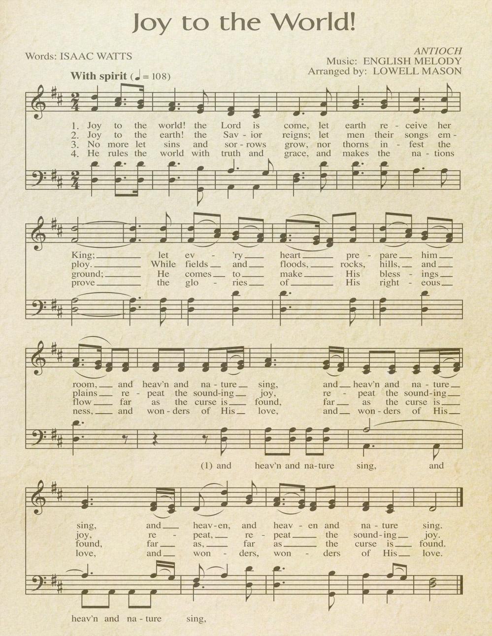 "Free Printable ""Aged"" Music Sheets   Celebrating Holidays - Free Printable Sheet Music"